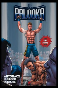 October 4, 2011; The comic book series Joe Palooka launched online yesterday, with yours truly making a cameo appearance on the front cover of issue #1.  The print version comes out in January.  Image: Palooka.com