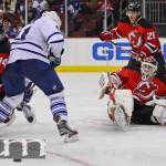 Leafs Knock Down Brodeur, Devils